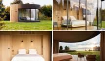 Панорамні вікна із видом на Женевське озеро: фото круглої каюти у Франції із затишним інтер'єром