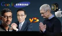 "Google та Samsung оголошують ""війну"" Apple Watch"