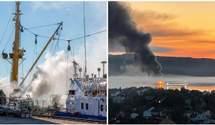 У Норвегії спалахнув російський траулер: стався потужний вибух