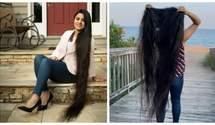 Растила с 13 лет: женщина обрезала волосы длиной почти 2 метра и установила рекорд