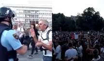 З водометами і сльозогінним газом: поліція у Словенії розігнала антиковідний мітинг