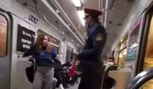 Співробітник метро вигнав з вагону зухвалу пасажирку без маски: відео інциденту