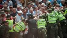 Мітинг під Радою: сутички з правоохоронцями та домовленості з Іриною Геращенко