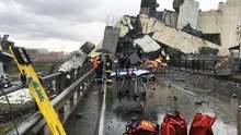 Обвал мосту в Італії: загинули щонайменше 20 людей