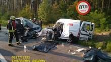 Лобове зіткнення під Києвом: 4 загиблих, 3 постраждалих у важкому стані