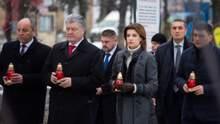 Первые лица государства пришли почтить память героев Небесной Сотни: фото