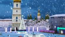 В Киеве на Софийской площади установили главную елку: фото