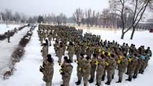 В Харькове кадеты провели впечатляющий флешмоб ко Дню Соборности Украины: яркие фото