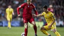 Украина выстрадала ничью в матче с Португалией: видео