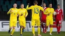 Сборная Украины благодаря автоголу вырвала победу в Люксембурга
