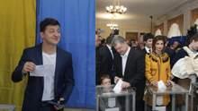 Як Петро Порошенко та Володимир Зеленський голосували у другому турі: фото і відео