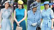 Всі відтінки блакитного: Єлизавета ІІ, дві її онуки і Кейт одяглися в однаковій колірній гамі