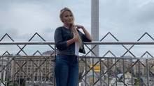 Российская телеведущая Дана Борисова побывала на Майдане Независимости: фото