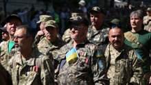 В Киеве завершился Марш Защитников ко Дню Независимости