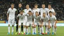 Сборная Украины удержала позицию в обновленном рейтинге ФИФА