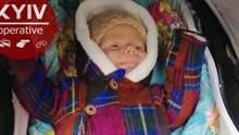 Знайшли немовля, яке невідома жінка викрала на Київщині: фото