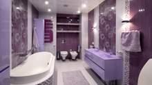 Фиолетовая ванная: как не нарушить стиль и что нельзя забывать