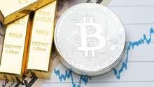 Кореляція біткойна і золота досягла рекордного значення через падіння долара: що це означає