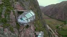 Отель в Перу предлагает ночлег над пропастью: фото экстремальных комнат