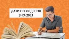 ВНО в 2021 году: опубликовали даты проведения тестирования по всем предметам