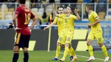 УЕФА отметил безумный гол Украины в ворота Испании в Лиге Наций: видео