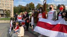 Белорусские активистки устроили марш в Киеве для поддержки сограждан: фото, видео