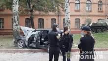 Кафе на перекрестке и разбитые машины: появилось полное видео приключений одесского неадеквата