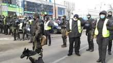Митинг ОПЗЖ у посольства США в Киеве: силовики оцепили территорию – фото, видео