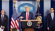 Трамп виступив із хвилинною заявою у Білому домі: про що сказав