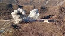 Перед виходом Вірменія підірвала військову частину в Карабасі: відео