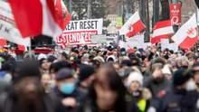 Вы – болезнь, мы – лекарство: в Австрии протестовали против коронавирусных ограничений