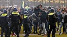 Со служебными собаками: в Амстердаме разогнали акцию протеста
