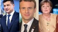 Без Путіна: Зеленський, Меркель і Макрон можуть зустрітися найближчим часом
