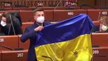 За обстріляний український прапор: у ПАРЄ перервали виступ Гончаренка і пригрозили санкціями