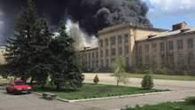 В Луганской области произошел пожар в воинской части: фото