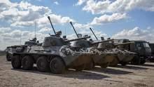 Відведення військ: техніка 41 армії Росії залишиться біля кордону України