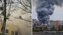 У Вінниці спалахнула пожежа в офісному центрі: є жертва – фото, відео
