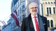Президент Латвии письменно утвердил поддержку европейских перспектив Украины