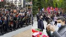Драка и запрещенная атрибутика: как отмечают День победы в городах Украины – фото, видео