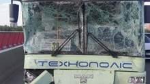 Потрійна ДТП з автобусами на Центральному мосту у Дніпрі: 4 пасажирів постраждали
