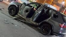 В Ивано-Франковске с противотанкового гранатомета обстреляли машину: фото, видео