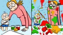 Українка в коміксах показує будні мам: кумедні ілюстрації, які змусять вас сміятися