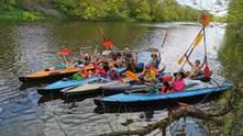 Сплав родиною на байдарках річкою Здвиж