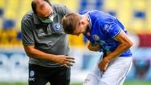 """Українець Пластун отримав жахливу травму в матчі """"Генту"""", йому наклали шви: фото та відео"""