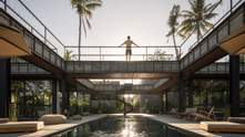 """Будинок-хрест: в Індонезії побудували шикарну віллу """"коридорного"""" типу – фото"""