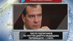 Число підписників Медведєва перевищило 1,5 млн