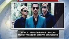 Количество поклонников Depeche Mode в Facebook достигло 6 миллионов