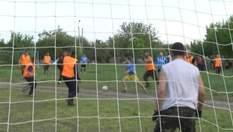 Как украинские бойцы в футбол играли