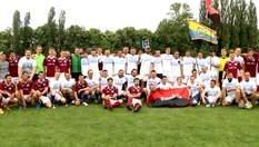 Ветераны АТО сошлись в футбольном поединке с волонтерами