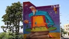 Украинский дуэт Interesni Kazki рисует фантастические граффити по всему миру